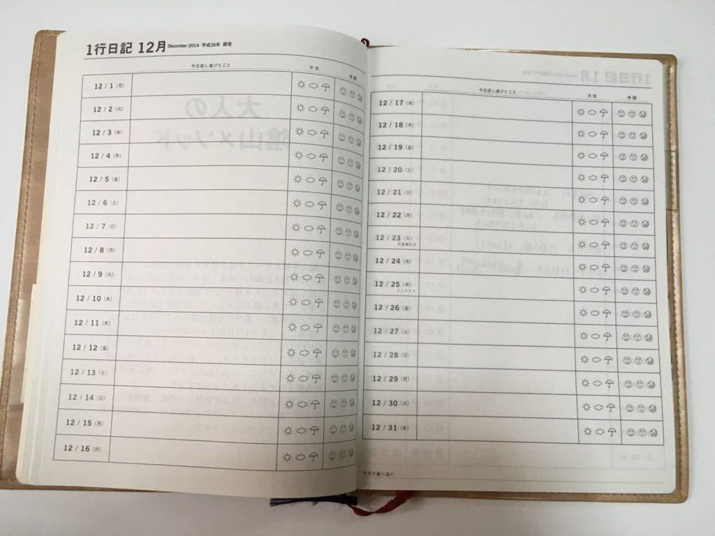 陰山手帳1行日記