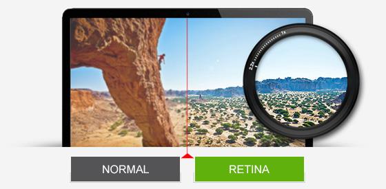 retinaは画質が綺麗